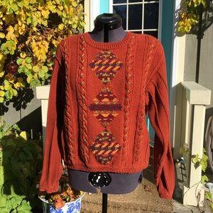 Vintage Liz Claiborne Embellished Sweater